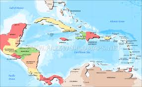 caribbean map countries of the caribbean
