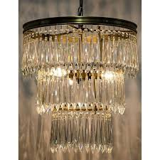 noir venice chandelier in antique brass