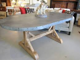 awesome zinc top round dining table inspirations including coffee argo lamp ideas