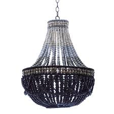 as shown bluu wooden bead chandelier size 20 dia x 24 h inches material black beaded chandelier n51