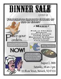 Sample Dinner Flyers Sales Dinner Sale Taylor Graphix In