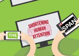 The Human Attention Span Infographic Digital Information
