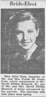 Bride Elect Alice Enos Honolulu Advertiser Sept 25 1939 mon ...