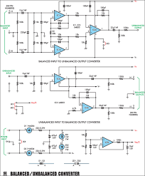 balanced unbalanced converter for audio work circuit diagram balanced unbalanced converter circuit diagram