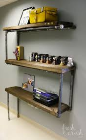 Industrial Shelving with Pipe Fittings