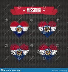 Graphic Design Missouri Missouri Heart With Flag Inside Grunge Vector Graphic