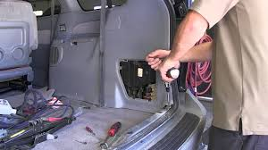 installation of a trailer wiring harness on a 2000 toyota sienna trailer plug adapter 6 round to 4 flat at Trailer Hitch Wiring Harness Adapter
