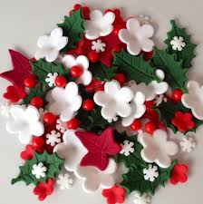 Sugar Paste Cake Decorating Details About Christmas Cake Toppers Edible Sugar Paste Holly Ivy