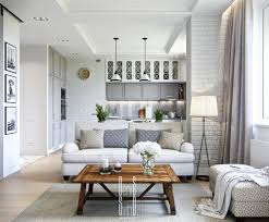 Interior Design For Small Spaces Living Room And Kitchen This Small Apartment Has Some Great Design Features Brick Walls