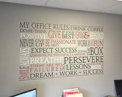 wall decor for office. office wall vinyl word collage rules cloud custom decal decor for u