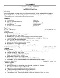 Sample Cleaning Resume Janitorial Resume Sample Release Impression Cleaning Professionals 3