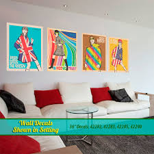 mod fashion wall decals display