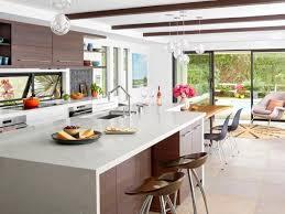 White wood kitchen Two Tone Contemporary Kitchen Hgtvcom White And Wood Kitchen Remodel Hgtv