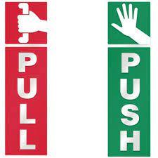 push and pull door windows vinyl decal