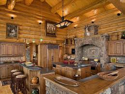 Huge Rustic Kitchen At The Cabin