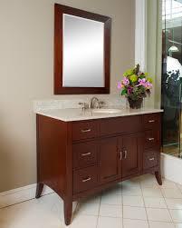 Kaco Metro 48 inch Traditional Bathroom Vanity Brown Cherry Finish ...