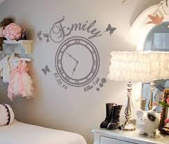 date of birth memory clock baby girl wall art decal