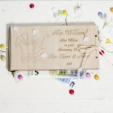personalised wooden money christening gift envelopes