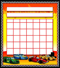Race Cars Incentive Charts
