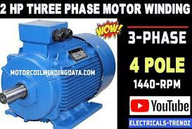 3 phase motor winding diagram
