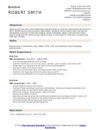 Skills And Ability Resumes Butcher Resume Samples Qwikresume