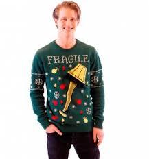 A Christmas Story Fragile Leg Lamp Light Up (LED Lighting) Ugly Sweater Men\u0027s Sweaters | for Real Men