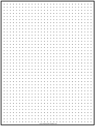 Black 0 25 Inch Dot Graph Paper Template Download Printable