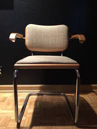 Incredible Set of Ten Cesca Chairs by Marcel Breuer for Knoll with Knoll  Fabric 2