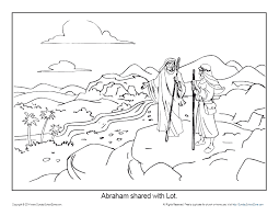 I was a fairly creative person throughout my life but as a stay at home mama of 3 young kids, it just felt like there wasn't a lot of time. Abraham Coloring Page Printable Abram And Lot Separate