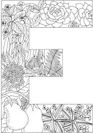 Small Picture Letter E with Plants coloring page Free Printable Coloring Pages