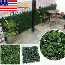 uland artificial grass boxwood wall fake hedges greenery backdrop 96pcs 10 x10 for