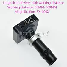 What Kind Of Light Source Is On A Microscope Us 112 5 10 Off Hd 38mp 2k 1080p 60fps Hdmi Usb Video Microscope Camera 5x 600x Adjustable Magnification Zoom C Mount Lens Led Light Source In