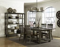 Gray Dining Room Arctic Extendable Dining Table In Grey Glass And 6 Leona Z Chair