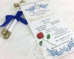 Scroll Birthday Invitations Scroll Invitation Etsy