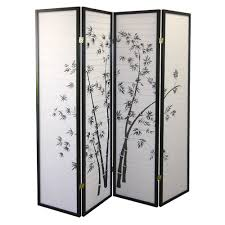 ore international black  panel bamboo screen room divider amazon
