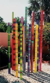 garden sculpture. Painted Poles Garden Sculptures Sculpture