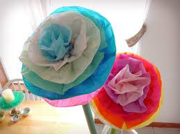 make giant tissue paper flowers