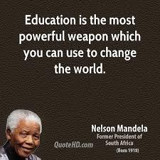 Nelson Mandela Education Quote Enchanting Nelson Mandela Education Quotes QuoteHD