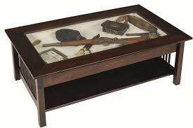 mission large coffee table with glass
