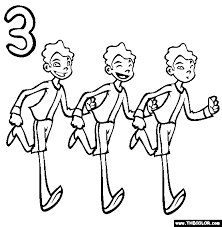 Small Picture Three Boys Coloring Page Free Three Boys Online Coloring