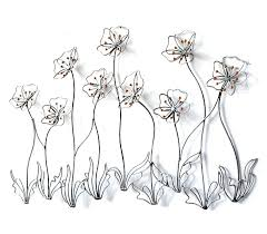 metal flower wall art nz uk fl decor