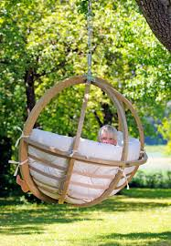 hanging swing chair outside