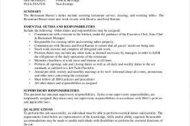 Table Busser Job Description Suiteblounge Com