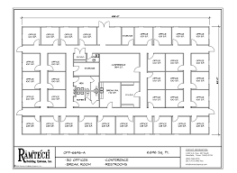 Office Building Plans Permanent And Relocatable Commercial Modular Construction Floor Plans
