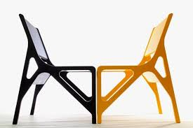 simple chair design. Black And Yellow Simple Chair In Geometric Form Design