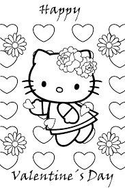 Free Valentines Coloring Pages For Kindergarten With Uncategorized