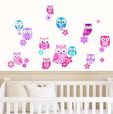 Rubybloom Designs Owls Flowers Pink Purple Blue Girls Animal Childrens
