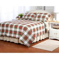 red flannel comforter details about twin full queen king bed green white plaid holiday set cover