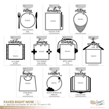 Faves Right Now Digital Pocket Card Templates