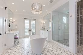 Bathroom Tile Floor Patterns Cool Coastal Contemporary Transitional Bathroom Miami By Joy R